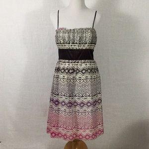 Ombré Aztec print dress - wedding, brunch, anytime